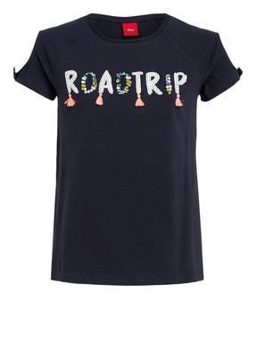 s.Oliver T-Shirt mit Paillettenbesatz