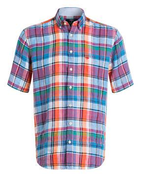 FYNCH-HATTON Halbarm-Leinenhemd Comfort Fit