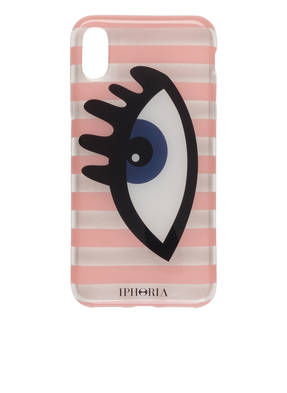 IPHORIA iPhone-Hülle STRIPES ROSE/ TRANSPARENT EYE BLUEfür iPhone X/XS