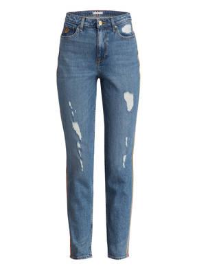 TOMMY HILFIGER Destroyed Jeans mit Galonstreifen