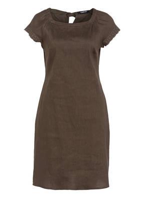TAIFUN Kleid mit Leinenanteil