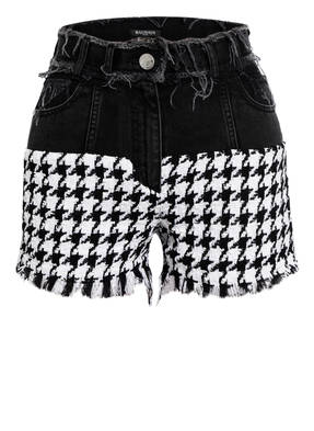BALMAIN Shorts mit Tweed-Besatz