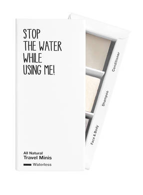 STOP THE WATER WHILE USING ME! WATERLESS TRAVEL SET