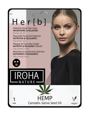 IROHA NOURISHING & RELAXING TISSUE MASK HEMP
