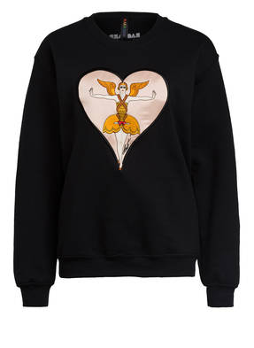 RAGYARD Sweatshirt ERTE HEART APPLIQUE