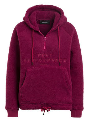 Peak Performance Fleece-Hoodie PILE