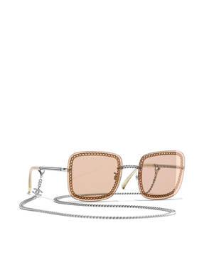 CHANEL Sunglasses Rechteckige Sonnenbrille