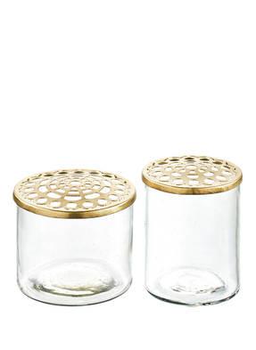 A SIMPLE MESS 2er-Set Vasen KASTANJE