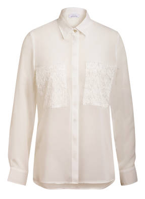 just white Bluse mit Glitzergarn