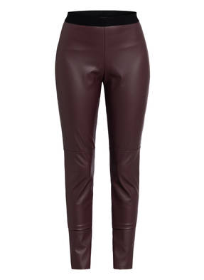 HUGO Leggings HONATI in Lederoptik