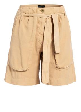 MASON'S Paperbag-Shorts mit Leinen