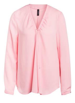 bluse rosa jacke grau