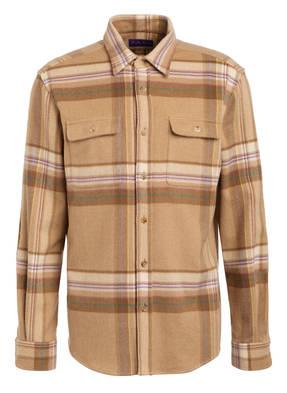 RALPH LAUREN PURPLE LABEL Hemd aus Wolle Comfort Fit