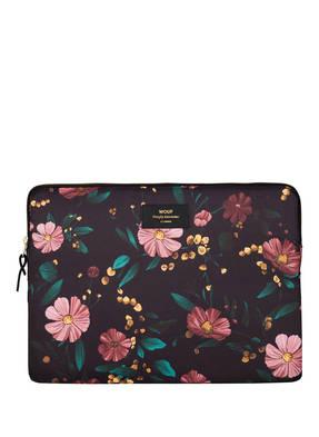 WOUF Laptop-Hülle BLACK FLOWERS