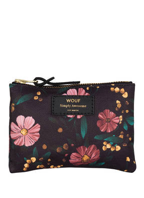 WOUF Pouch BLACK FLOWERS