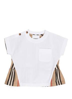 BURBERRY T-Shirt im Materialmix