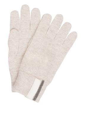 BRUNELLO CUCINELLI Cashmere-Handschuhe mit Zierperlenbesatz