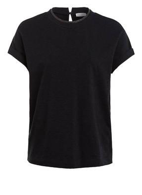 BRUNELLO CUCINELLI T-Shirt mit Schmucksteinbesatz