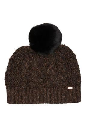 TED BAKER Mütze TELINN mit Kunstpelzbommel