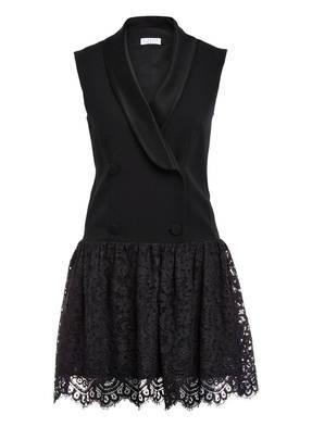CLAUDIE PIERLOT Kleid RETRO mit Spitzenbesatz