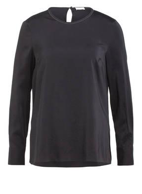 BRUNELLO CUCINELLI Blusenshirt aus Seide mit Schmucksteinbesatz