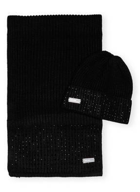 Calvin Klein Set STUDDED Schal und Mütze in Geschenkbox