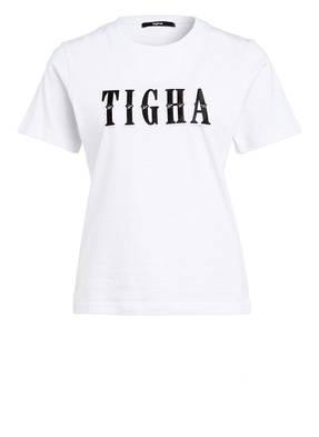 tigha T-Shirt LETTER mit Nietenbesatz