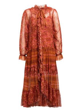 ZIMMERMANN Kleid EDIE mit Volantbesatz
