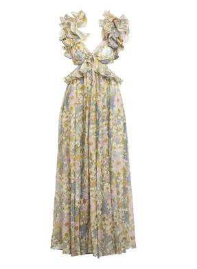 ZIMMERMANN Kleid SUPER EIGHT mit Seide und Leinen