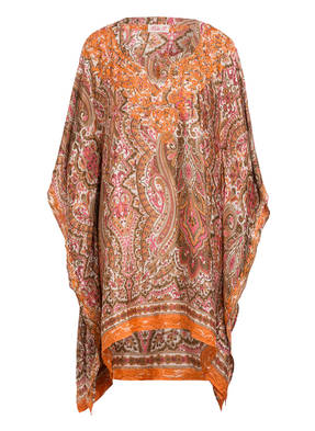 PINK PLANET Seidenkaftan mit Stickereien