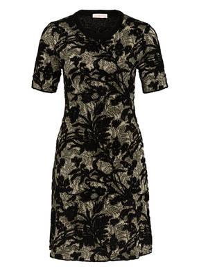 TORY BURCH Jacquard-Kleid mit Glitzergarn