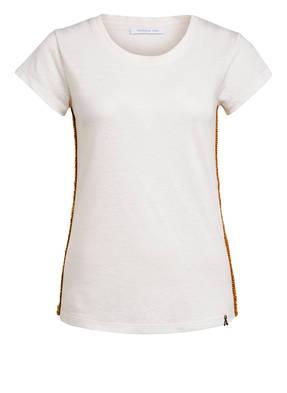 PATRIZIA PEPE T-Shirt mit Leinen