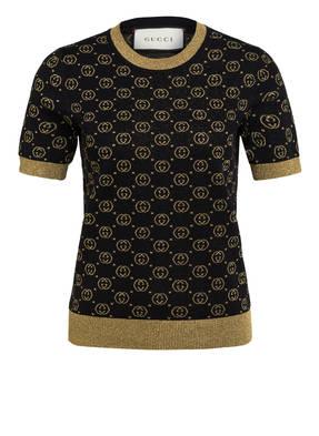 GUCCI T-Shirt mit Glitzergarn