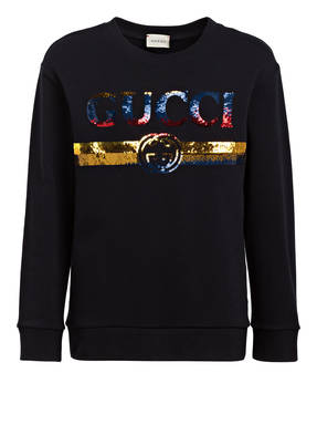 GUCCI Sweatshirt mit Paillettenbesatz