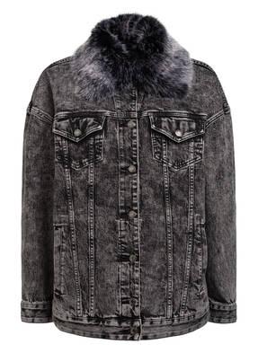 MICHAEL KORS Jeansjacke mit abnehmbarem Kunstfellbesatz