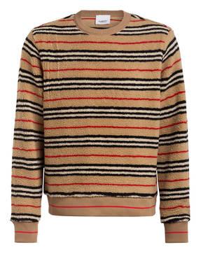 BURBERRY Sweatshirt aus Teddyfell