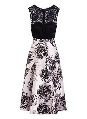 Vera Mont Jacquard-Kleid mit Spitzenbesatz