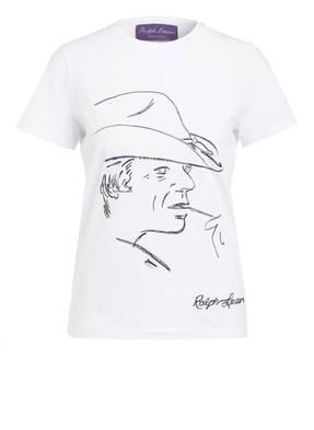 RALPH LAUREN Collection T-Shirt mit Schmucksteinbesatz