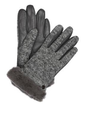 UGG Handschuhe mit Echtfellbesatz und Touch-Funktion
