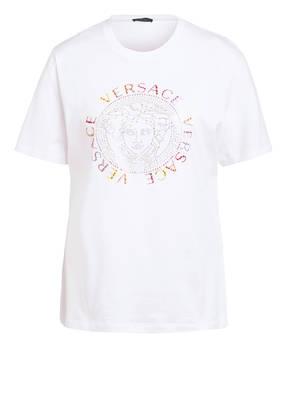 VERSACE T-Shirt mit Schmucksteinbesatz