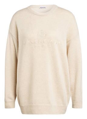 BALENCIAGA Cashmere-Pullover mit Stickereien