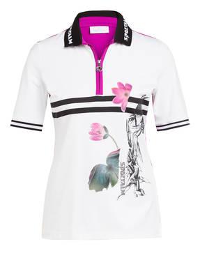 SPORTALM Poloshirt mit Schmucksteinbesatz