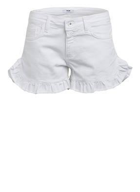 MSGM KIDS Jeans-Shorts mit Volantbesatz