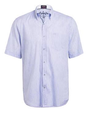 PAUL & SHARK Halbarm-Hemd Regular Fit aus Leinen