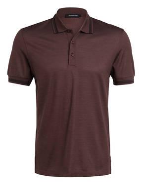 Ermenegildo Zegna Piqué-Poloshirt mit Seide
