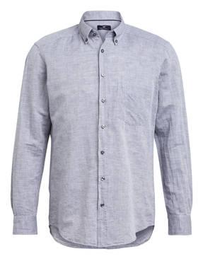 STROKESMAN'S Hemd Modern Fit mit Leinen