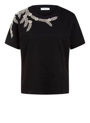 sandro T-Shirt mit Schmucksteinbesatz