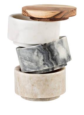 Bloomingville 3er-Set Vorratsdosen aus Marmor