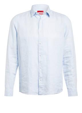 HUGO Leinenhemd EVART Straight Fit