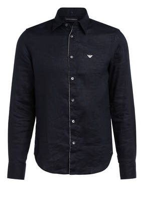 EMPORIO ARMANI Leinenhemd Regular Fit